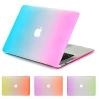 Clear Transparent Crystal Hard Case For Apple Macbook Air 13 Case Air 11 Pro 13 Retina 12 13 15 Case Protective Shell Rainbow