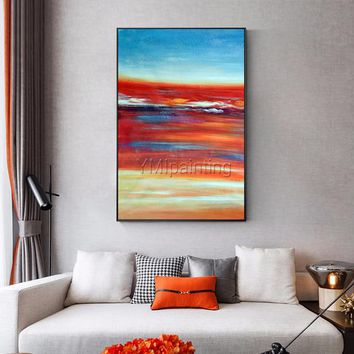 Sea Painting Modern Abstract original oil painting on canvas heavy texture extra quadros Large Wall Pictures cuadros abstractos hand painted