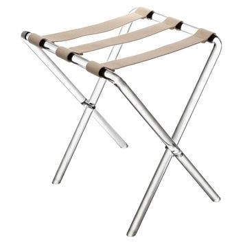 Lou Luggage Rack, Beige/Clear, Acrylic / Lucite, Luggage Racks