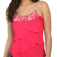 Printed Macrame Tank - Teen Clothing by Wet Seal