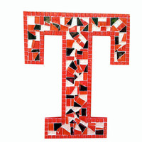 Letter T Mosaic Wall Art, You Choose the Colors
