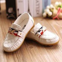 New Children Shoes Boys Baby Oxford Soft Sole PU Leather Boys Girls Sneakers Kid Flats Mocassins Size 21-30(Toddler/Little Boys)