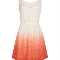 Coral Ombre Lace Dress