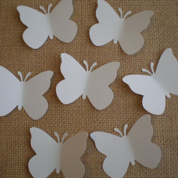 Large White Butterfly die cuts-Butterfly Punch, Paper Butterfly, Butterfly Decorations,Wedding Die Cuts-set of 50
