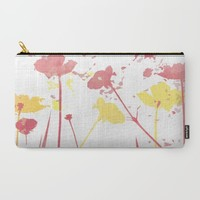 Field of Poppies Carry-All Pouch by ALLY COXON | Society6