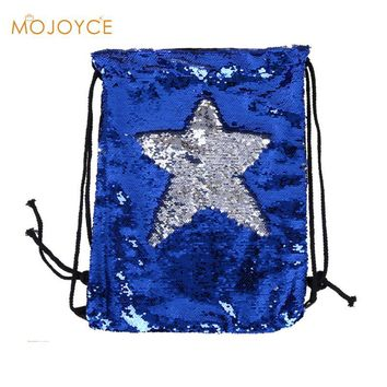 Women Fashion Backpack Double Color Reversible Sequins Mermaid Backpacks Funny Ladies Magic Sequins Rucksack for Girl 2018 New