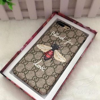 CREYONS GUCCI Bee flower iPhone Phone Cover Case For iphone 6 6s 6plus 6s-plus 7 7plus