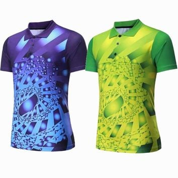 Men Sportswear badminton shirts Jerseys Volleyball Golf table tennis t-shirt sports clothes POLO T Shirts Quick Dry breathable