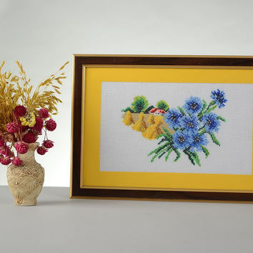 Cross stitch Picture Handmade Eco friendly Home decoration Gift ideas