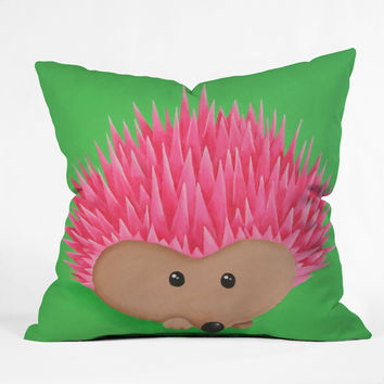 Mandy Hazell Ollie Hedgehog Throw Pillow