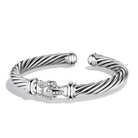 Cable Buckle Cuff with Diamonds - David Yurman - Diamond