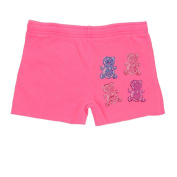 Butter Kids Gummy Bear Cut Off Short - Coral Flame