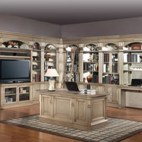 "The Allure Library Wall Unit for 50"" TV with Executive Desk 12733"
