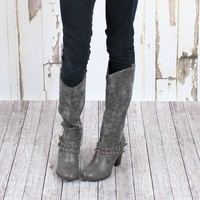 City Cowgirl Boots GRAY