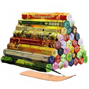 ac DCCKO2Q 3/4/6/9/12Boxes tibetan Incense Stick With Plate Indian Incense Premium Multiple Flavor Mixed Package sandalwood incense S $