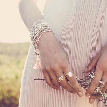 Delicate Bead + Chain Multi-Wrap Bracelet by Chloe + Isabel
