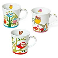 Owl Owl Mugs 3 Assorted Designs