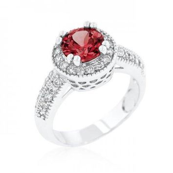 Garnet Halo Engagement Ring (size: 05) (pack of 1 ea)