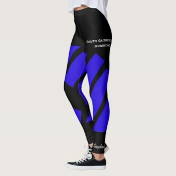 Dark Blue Team/Club Leggings with Fake Shorts