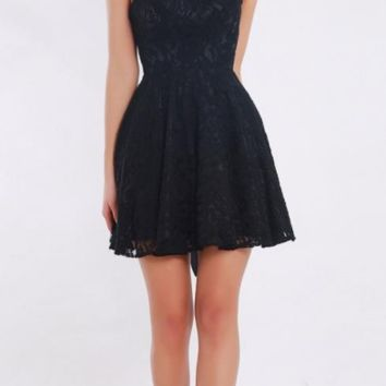 Mini Homecoming Dresses Vintage O-neck Black Lace with Beads Sleeveless Short A Line Prom Dresses Party Gowns