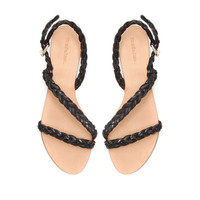 BRAIDED FLAT SANDALS - Shoes - TRF - ZARA United States