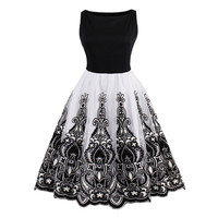 Embroidery Flare Dress