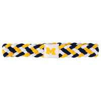 Michigan Wolverines NCAA Braided Head Band 6 Braid