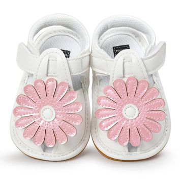 Baby Girl shoes Flower Sandals Shoes summer Casual Shoes Sneakers girls Anti-slip Soft Sole Toddler