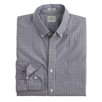 J.Crew Mens Slim Secret Wash Shirt In Spring Tattersall