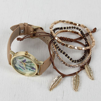 Dream Catcher Watch And Bracelets Set