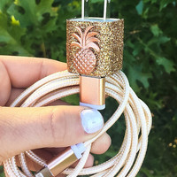 6FT Gold Pineapple iphone 5 6 7 Charger