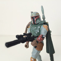Vintage Star Wars Action Figure - Boba Fett - 1990s Kenner Toy