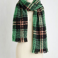 Dusk at the Drive-In Scarf in Seafoam by ModCloth