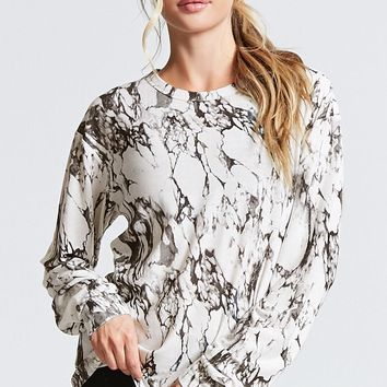 Active Marble Print Top