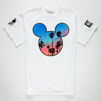 Neff Disney Collection Palms Mickey Prime Mens T-Shirt White  In Sizes