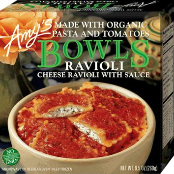 Amy's: Cheese Ravioli With Sauce Bowl, 9.5 Oz