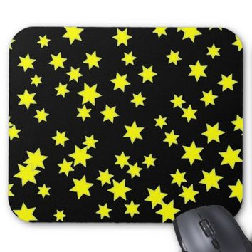 Yellow Stars Mouse Pad