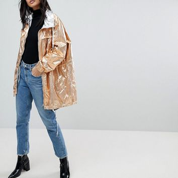 Blank NYC Reversible Metallic Rain Jacket at asos.com