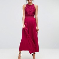 Little Mistress Tall Lace Applique Top Maxi Dress at asos.com