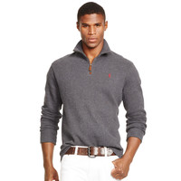 FRENCH RIB HALF-ZIP PULLOVER