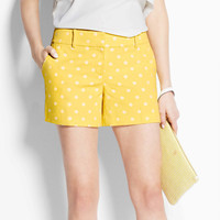 Polka Dot Jacquard City Shorts