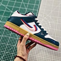 Parra X Nike Sb Dunk Low White/ Green/ Red Sneakers - Best Online Sale