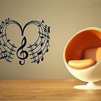 Wall Sticker Vinyl Decal Music Classical Sheet Cool Design Living Room Unique Gift ig1229