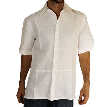 100% Hemp Button Down Men's Shirt Short Sleeve- Hempest