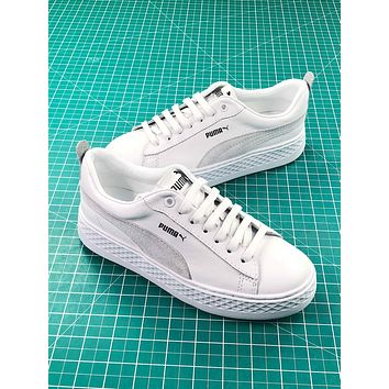 Puma Suede Classic Basket White Sneakers