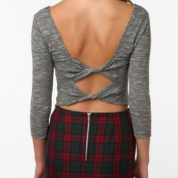 UrbanOutfitters.com > Sparkle & Fade Bow-Back Crop Top