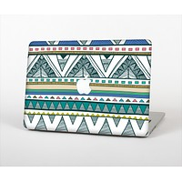 The Abstract Blue and Green Triangle Aztec Skin for the Apple MacBook Air 13""