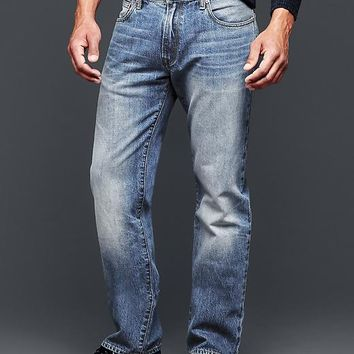 Gap Men 1969 Standard Fit Jeans Cement Indigo Wash