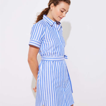 Striped Tie Waist Shirtdress | LOFT