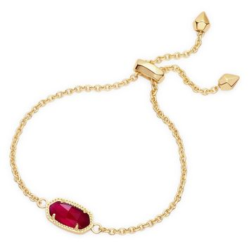 Kendra Scott Elaina Berry Illusion Gold Adjustable Bolo Bracelet